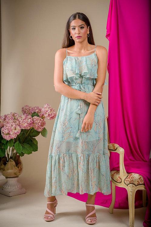 Vestido Hojas pastel