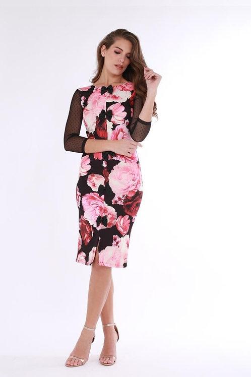 Vestido Tull Rosas