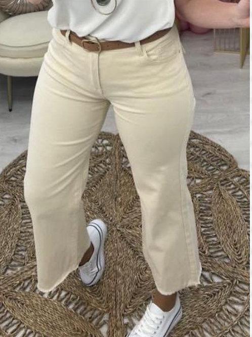 Pantalón culotte flecos