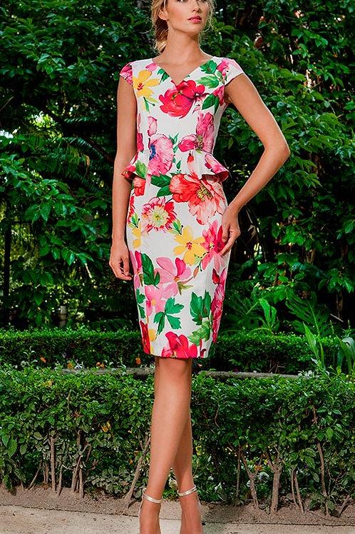 VESTIDO Peplum flor Rosé