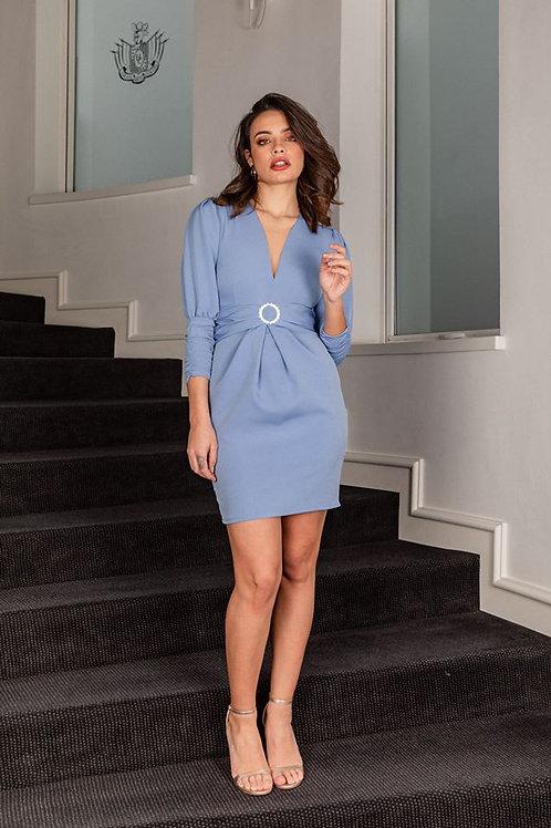 Vestido Azul hebilla