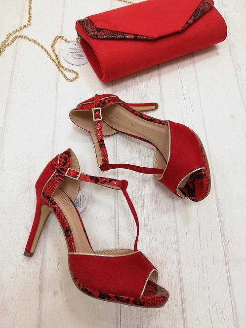 Sandalias rojas Combinadas Stay