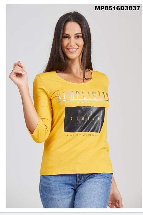 Camisetas mostaza