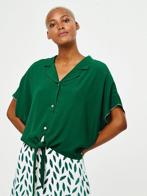 Camisa nudo verde