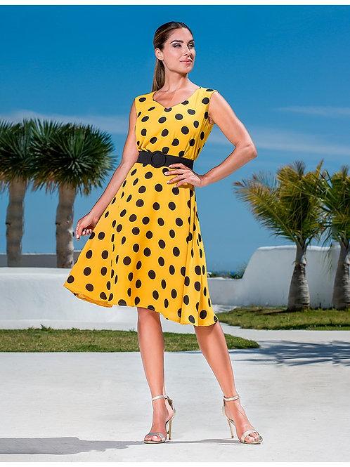 Vestido Gasa lunar amarillo