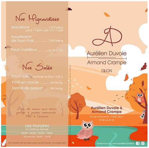 NOUVELLE CARTE DES DESSERTS