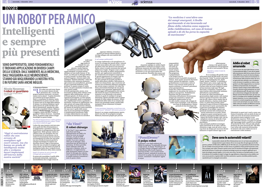A robot is my friend: the future of robotics (concept and graphic design)