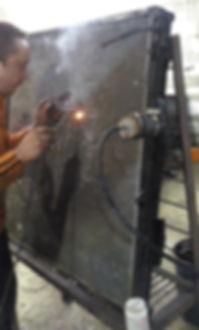 ремонт радиатора грузовика