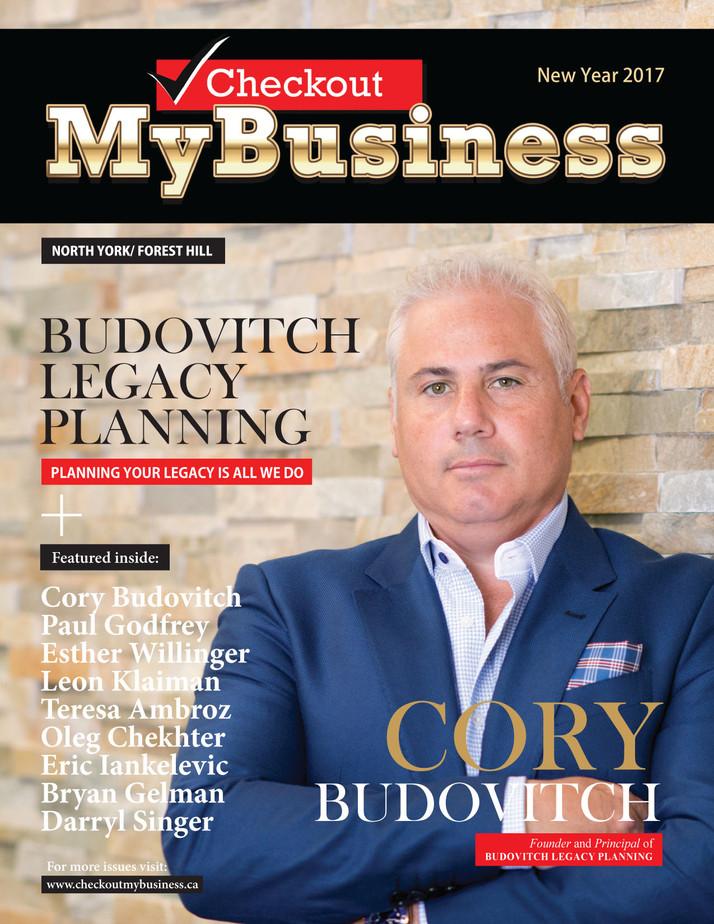 "CORY BUDOVITCH;  CEO;                          BUDOVITCH LEGACY PLANNING TEAM  ""A Unique Financ"