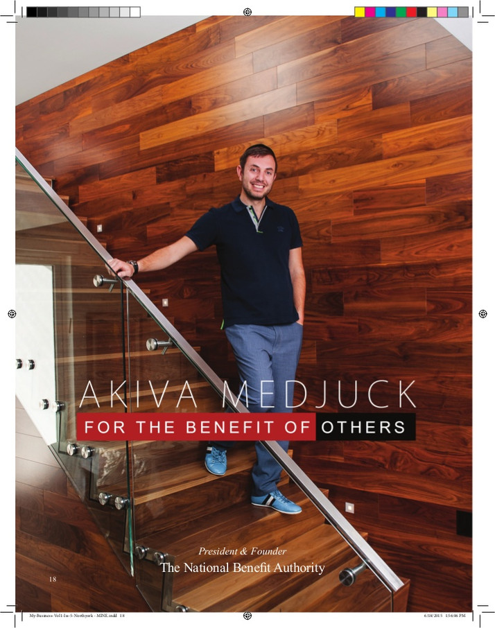 """AKIVA MEDJUCK: President and Founder The National Benefit Authority  TNBA   """"FOR THE BENEFIT OF"""