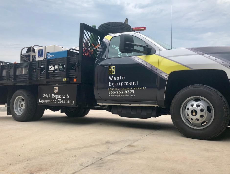 Waste Equipment Wash Truck