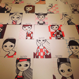 Live portraits drawing for Louis Vuitton korea store opening