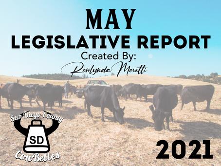 May 2021 San Diego County Cowbelle Legislative Report