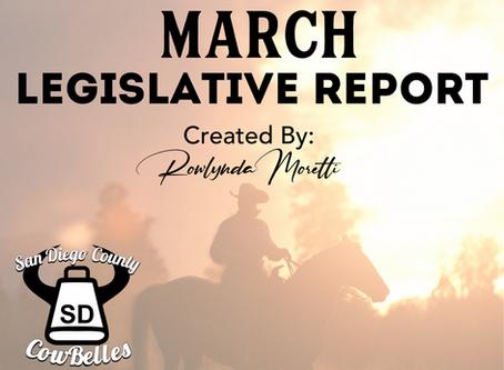 MARCH 2020 San Diego County Cowbelle Legislative Report