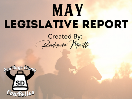 MAY 2020 San Diego County Cowbelle Legislative Report