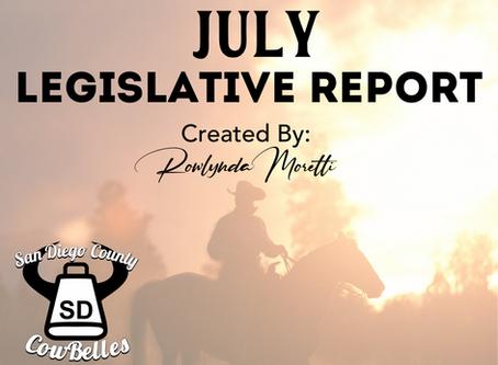 JULY 2020 San Diego County Cowbelle Legislative Report