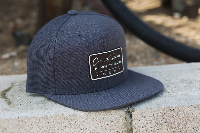 Classic Snapback - Gray with Black Patch