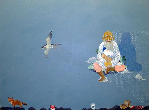 4_B.Baatarzorig_Dream of East_150x200_acrylic on  canvas_2011_klein.jpg