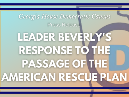 Response to the Passage of the American Rescue Plan