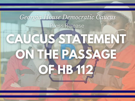 Statement on the Passage of House Bill 112