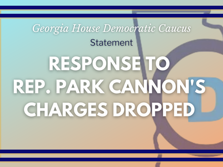 Representative Park Cannon's Charges Dropped