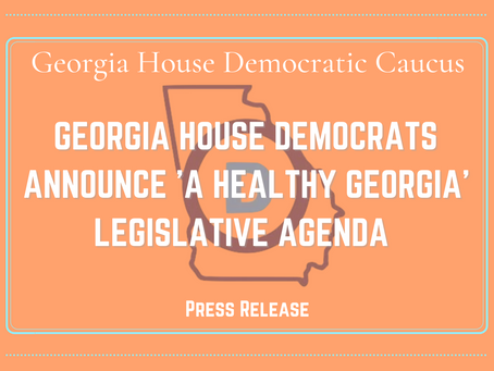 GHDC Announces 2021-22 Caucus Agenda 'A Healthy Georgia'