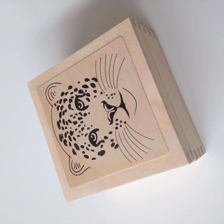 Leopard Face Box