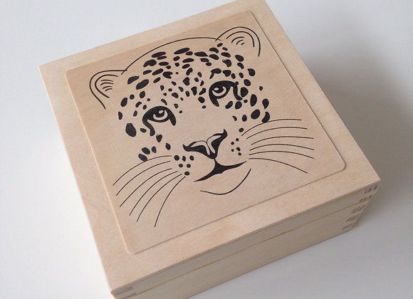Leopard box plain