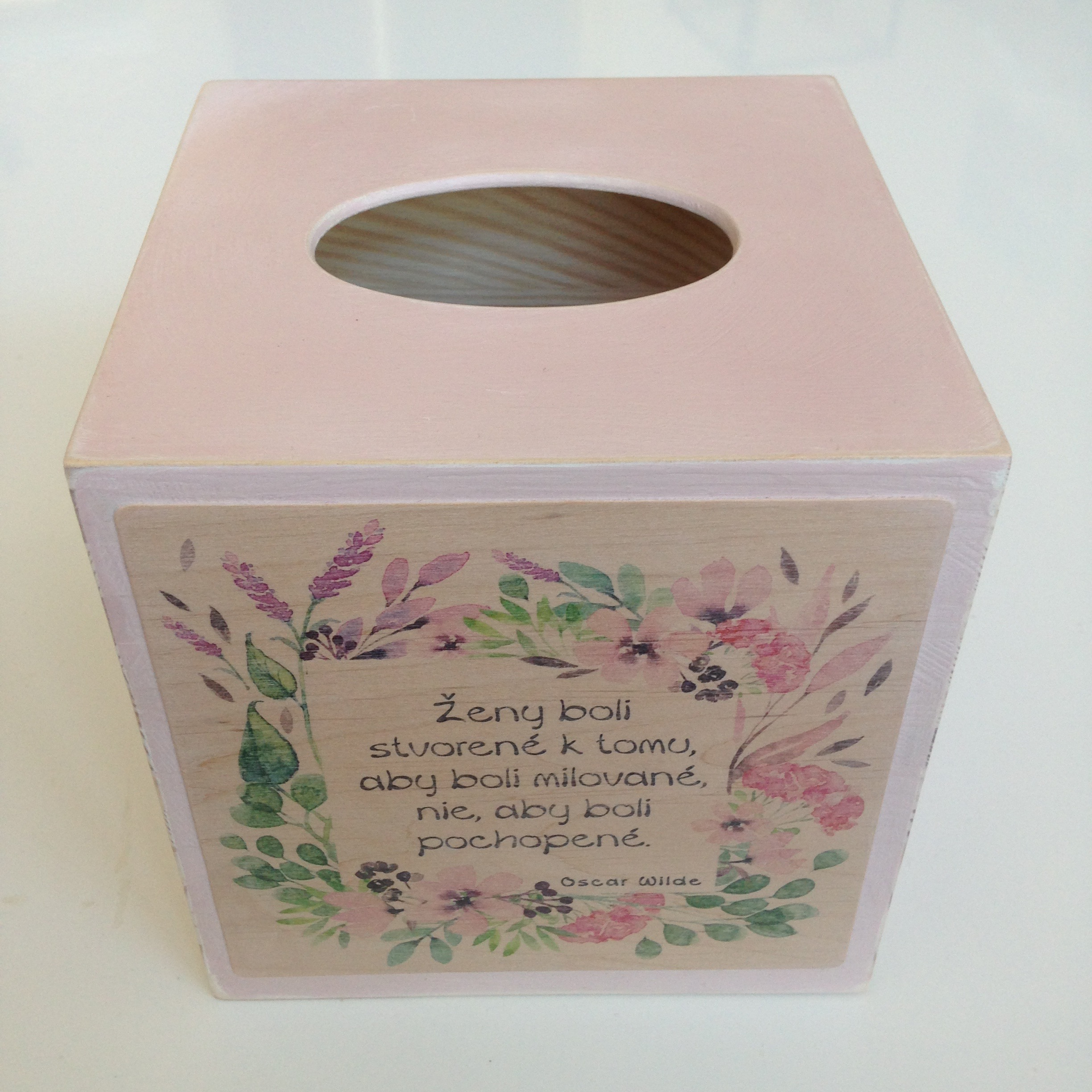 Square Tissue Box - Pink