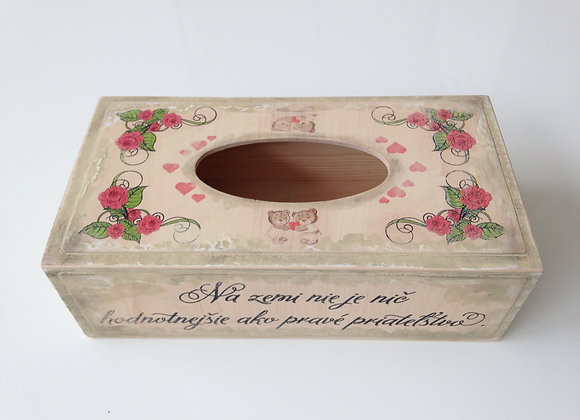 Rectangle Tissue Box / roses