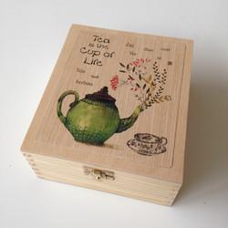Krabička na čaj - 4 priehradky