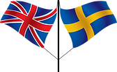 British & Swedish flags on a pole.png