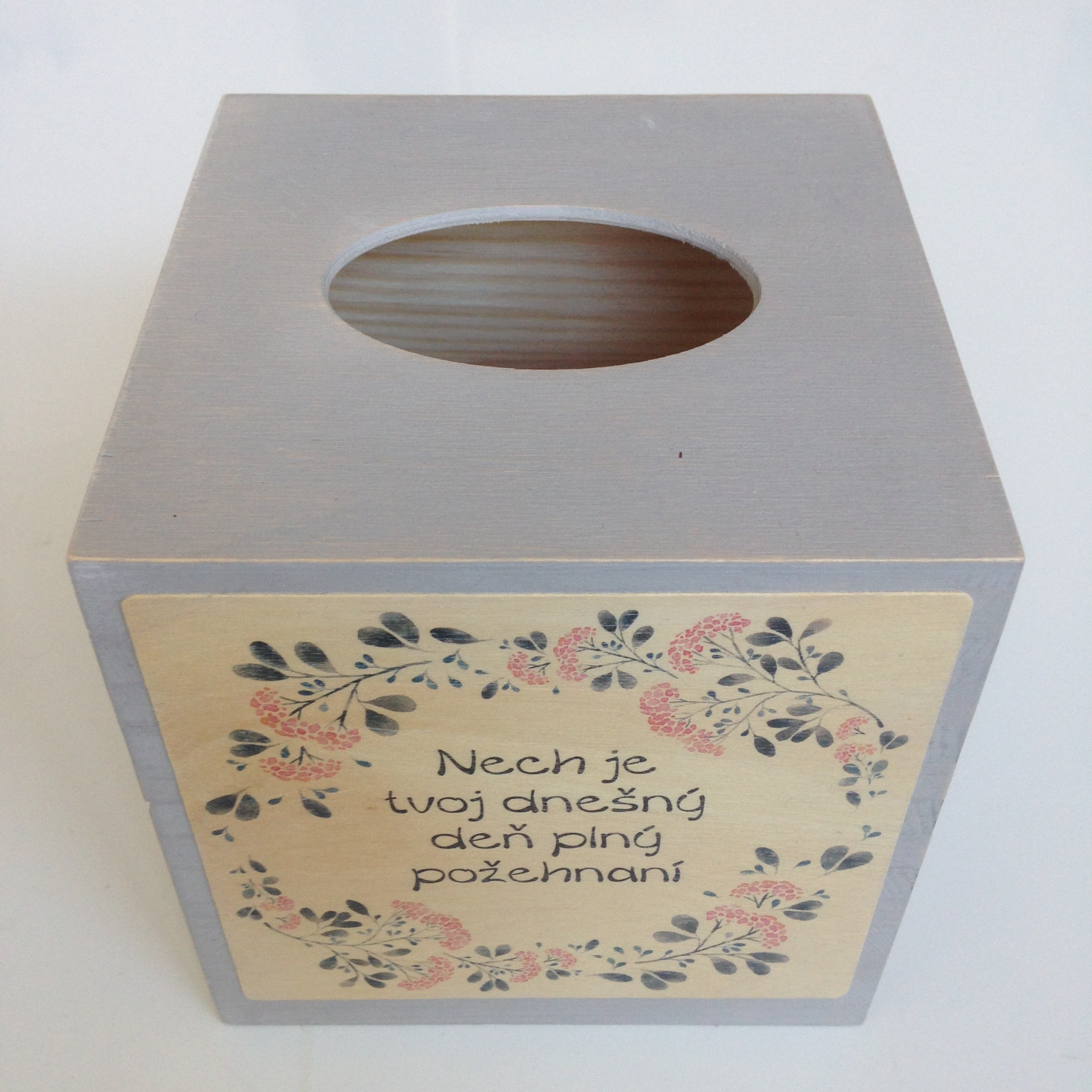 Square Tissue Box - Grey