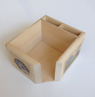 Note block and pen holder