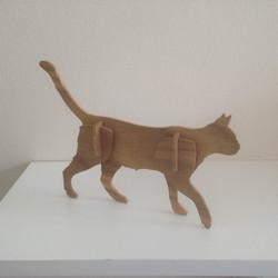 Simple 3D cat model
