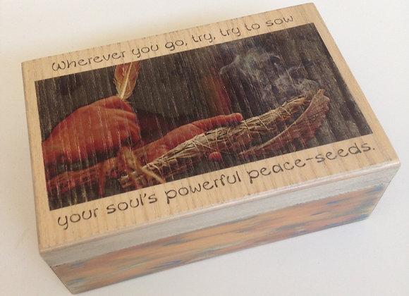 Burning Sage vintage box