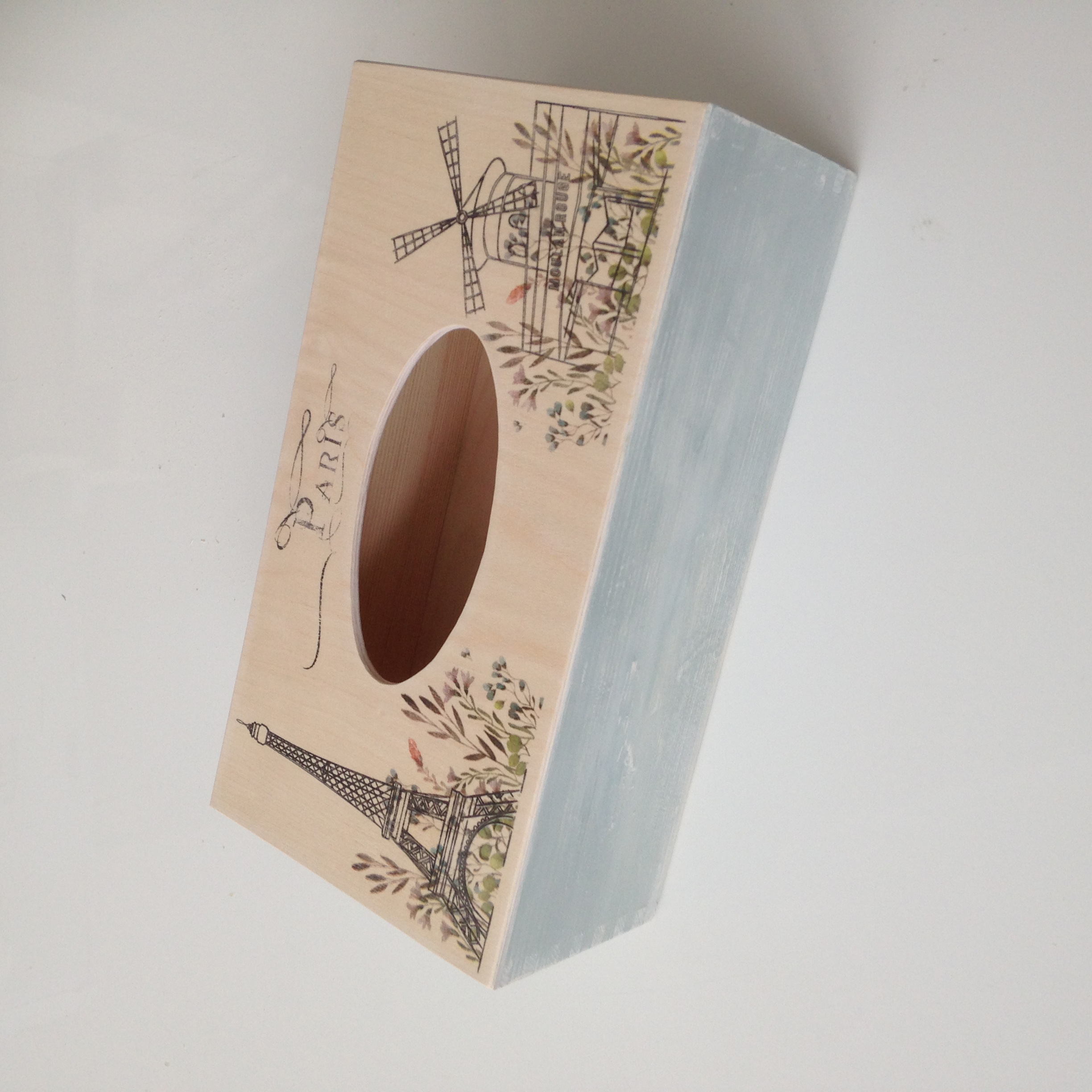 Paris themed tissue box