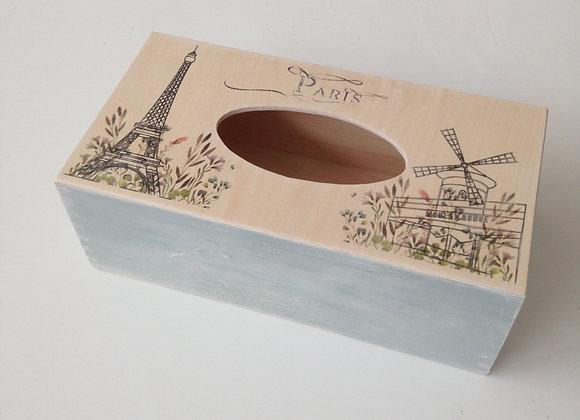 Paris themed tissue box