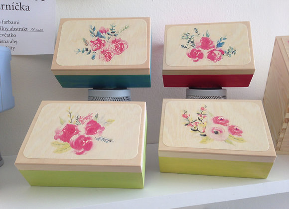 Jewellery box - Water colour flowers
