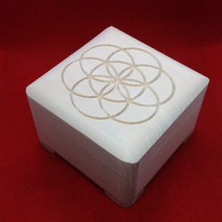 Flower of life carved box.