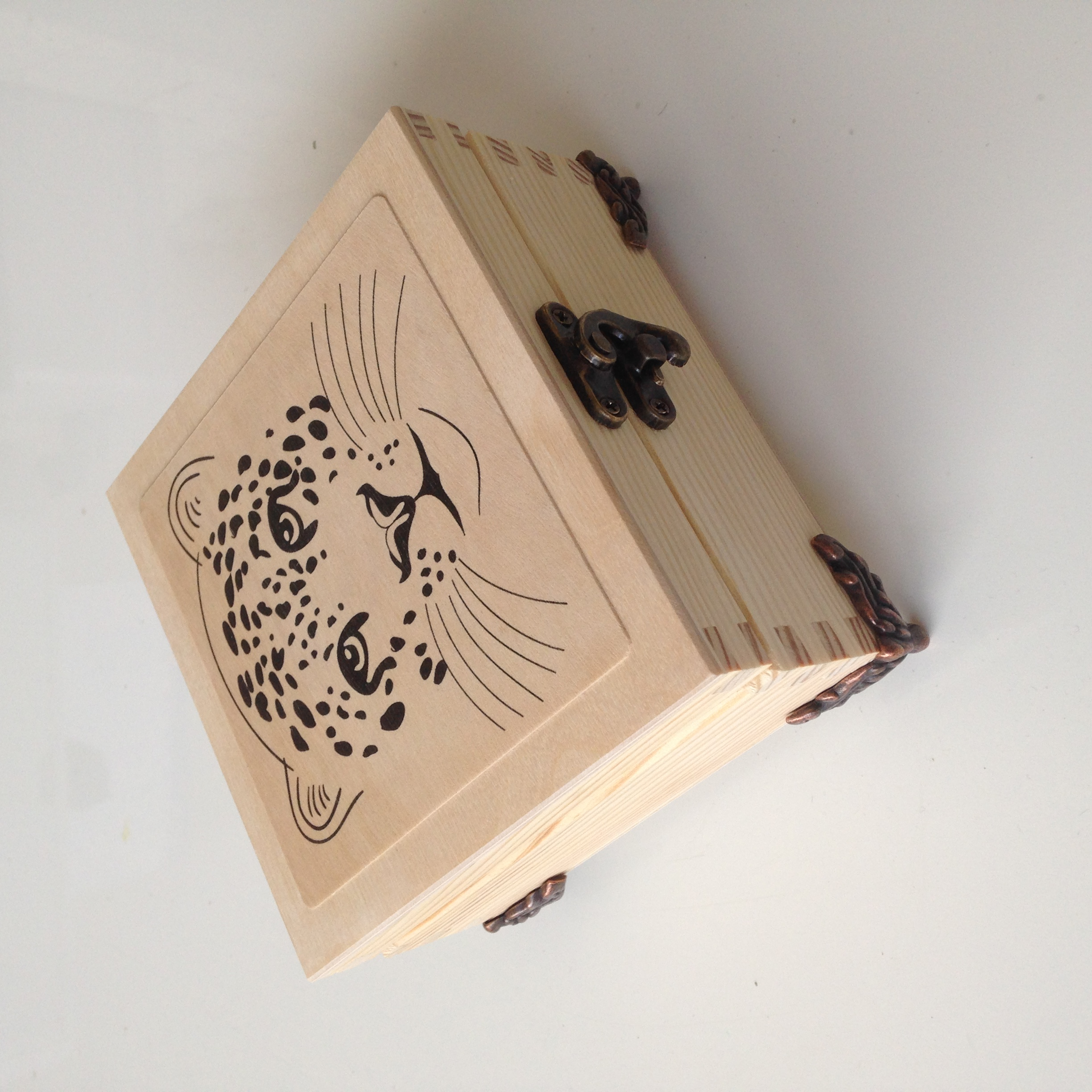 Leopard Face Box with extras
