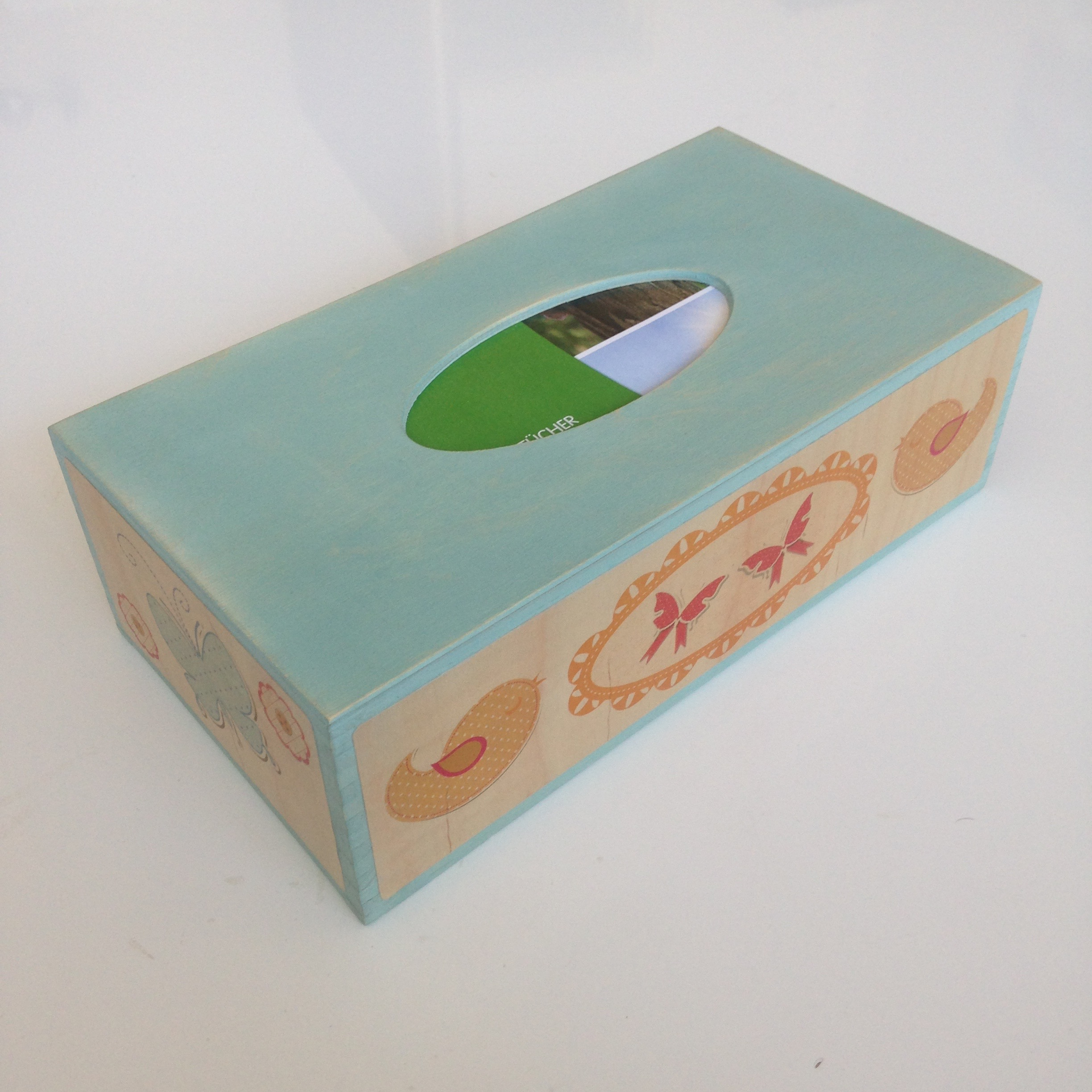 Butterfly & bird themed tissue box