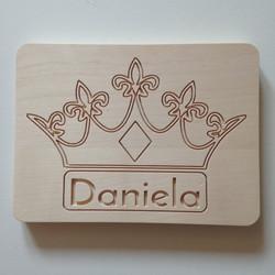 Carved name board