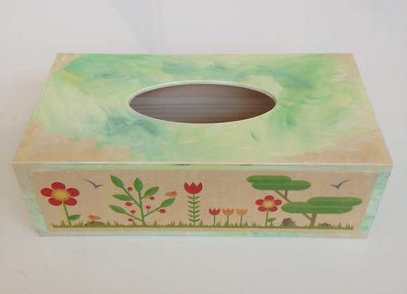 Nature inspired tissue box cover