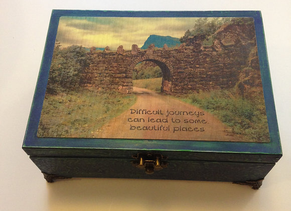 Blue/Green Jewellery box