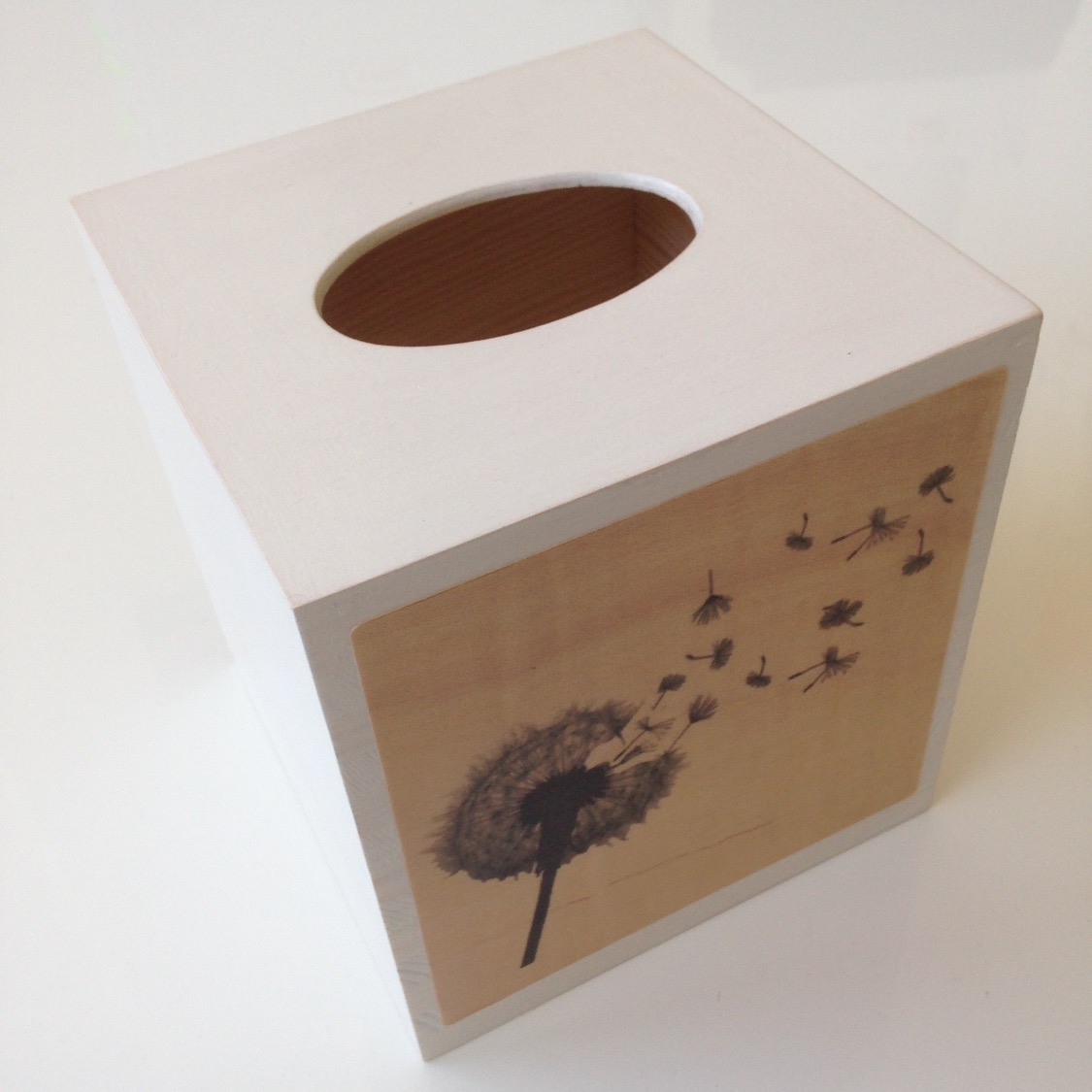 Square Tissue Box - White