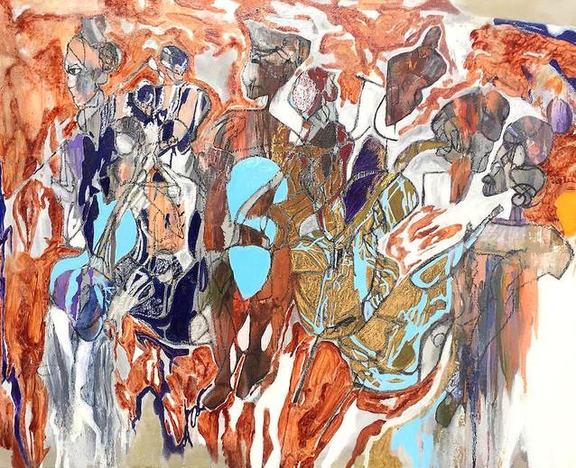 Technique mixte sur toile (acrylique, huile) 80 / 100 cm Prix sur demande