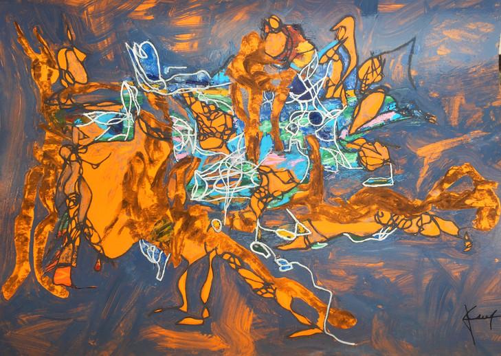 Technique mixte (acrylique, pastel sec, huile) sur papier 30 / 40 cm Prix sur demande
