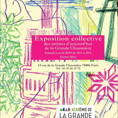 Travail sélectionné par l'Académie de la Grande Chaumière - Exposition collective