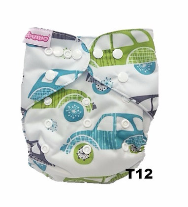 Reusable Cloth Diaper (Standard size)- Tupelo